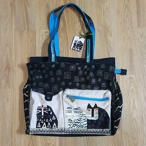 Laurel Burch cat tote bag purse